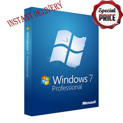Windows 7 Professional 32/ 64bit Original Licence Activation key send in 30 min