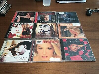 Country Hits 9 CD Lot Complete. Twain/Brooks/McGraw/Rimes/Rodgers/McEntire+