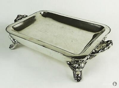 Fine WILLIAM IV OLD SHEFFIELD PLATE SERVING DISH & HOT WATER WARMING STAND c1830