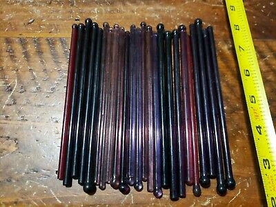 VTG (1940s-1950s) SHADES OF PURPLE GLASS~SWIZZLE STICKS~24pcs~COCKTAIL STIRRERS
