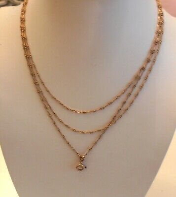 Xixème Chatelaine Victorian 140mm Or Superbe Chaine Necklace Fix Collier 18k 0wXn8POk