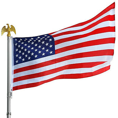American Flag U.S.A United States Stripes Stars Brass Grommets High-quality