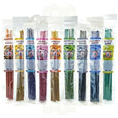 "BluntEffects Incense Sticks Air Freshener, 11"", 12 Hand Dipped Wands, YOU CHOOSE"
