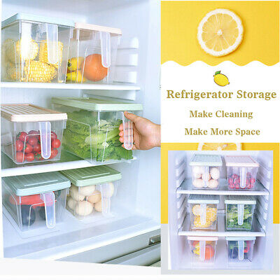Portable Refrigerator Fridge Sealed Food Fruits Storage Box Organizer Keep Fresh