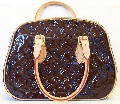 69cace4da7c7f AUTHENTIC Louis Vuitton Summit Drive Amarante Vernis Burgundy Patent Satchel