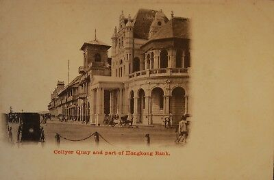 Carte Postale Ancienne Singapour (Singapore) Collyer Quay And Part Of Hong Kong