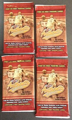 2002-03 NBA Trading Cards -Fleer Factory Sealed (Lot of 4)