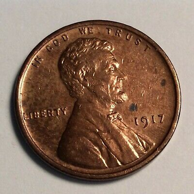 1917 Lincoln Cent; Red CH UNC.; sharply struck; some surface spotting