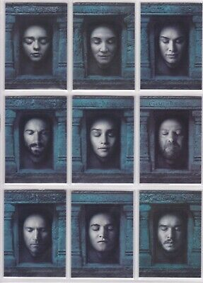 Game of Thrones Season 6, Hall of Faces Chase Card Set HF1-HF16