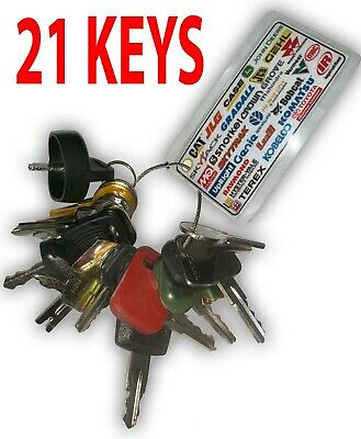 21 Keys Heavy Equipment Machines Construction Equipment master Ignition Key Set