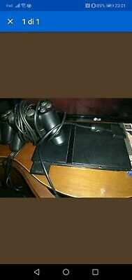 ps2 slim console play station + 2 controller