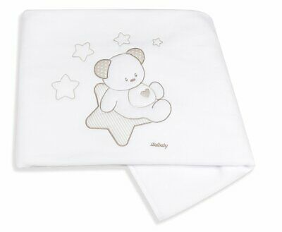 Italbaby Sweet Star Embroidered Piqué Blanket for Cot MultiColor OneSize RRP £52