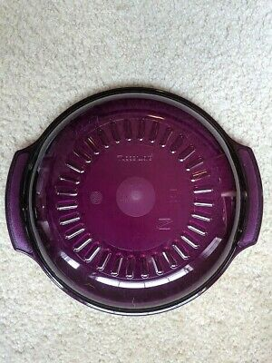 NEW Tupperware microwave stack cooker purple lid only 1 pc