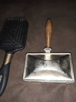 Vintage Antique Silent Butler Crumb Ash Catcher Fb Rogers Silver Co