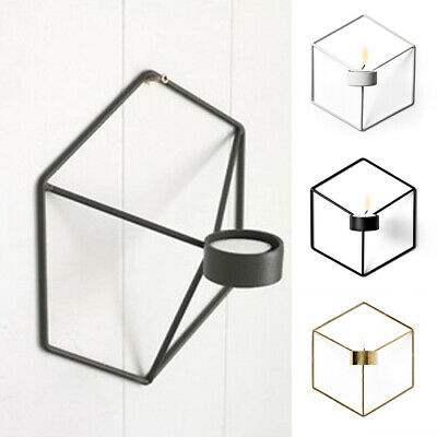 Wall Mounted 3D Sconce Nordic Style Tealight Candle Holder Geometric Ornaments