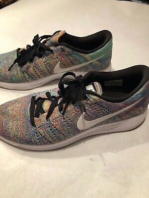 4fdc5c8435a4 NIKE FLYKNIT RACER Multicolor 2.0 Green Blue Rainbow 526628-304 Mens ...