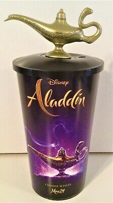 Disney's Aladdin 2019 Movie Theater Exclusive 44 oz Cup and Topper