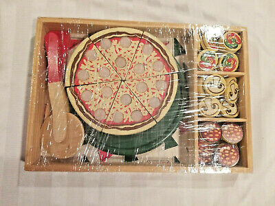 Melissa Doug Pizza Party Wooden Pizza Set 19 90