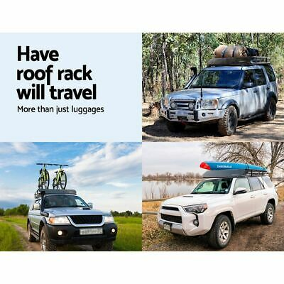 Universal Roof Rack Car Luggage Carrier Weatherproof Basket Powder-coated Steel
