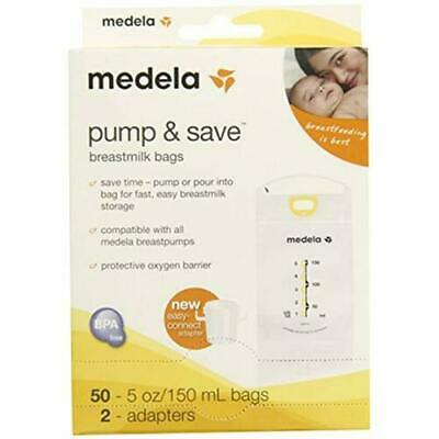 Medela Pump and Save Breastmilk Bags 50 count 5oz bags