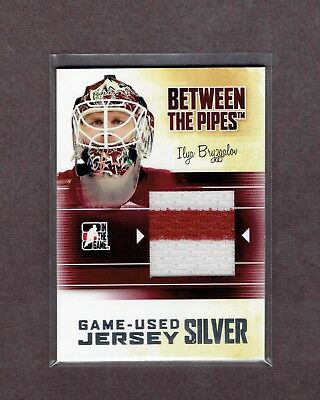 2010-11 ITG Between The Pipes Jersey Silver #M-19 Ilya BRYZGALOV. Looks Mint.