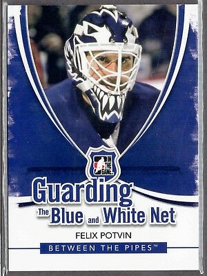2010-11 ITG Between The Pipes Guarding The Blue & White Net #BW-07 Felix POTVIN