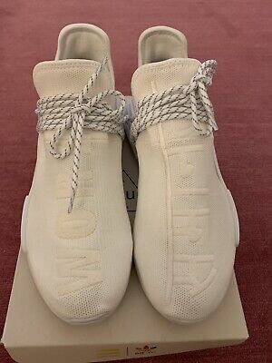 0bdb9c6dd8c9e Pre-Owned Pharrell Williams x adidas Human Race NMD Hu Holi Blank Canvas  Size 10