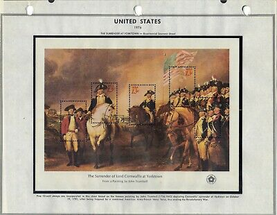 U.S. Scott 1686 thru 1689 - American Bicentennial Souvenir Sheets - Lot of 4  #2