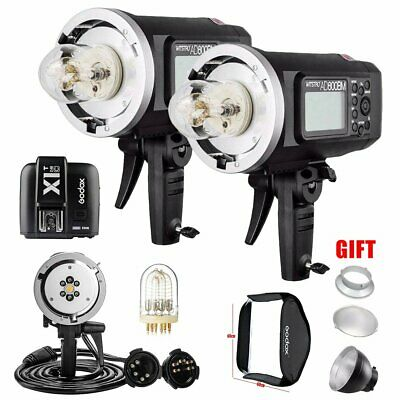 2X Godox AD600BM 2.4G Strobe Light + AD-H1200B + 1200W Flash Tube + X1T Trigger