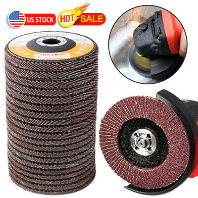 4.5 Inch Flap Discs 20PCS 40 60 80 120 Grit Assorted Sanding Grinding Wheels