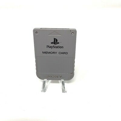 Authentic OEM Genuine Grey Sony PlayStation 1 PS1 Memory Card SCPH-1020