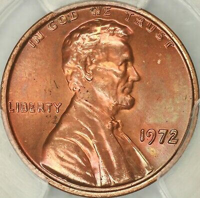 1972 Doubled Die Obverse Lincoln Cent PCGS MS65RD