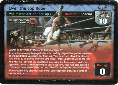"WWE Raw Deal ""Over the Top Rope"" (2003) Individual Card"