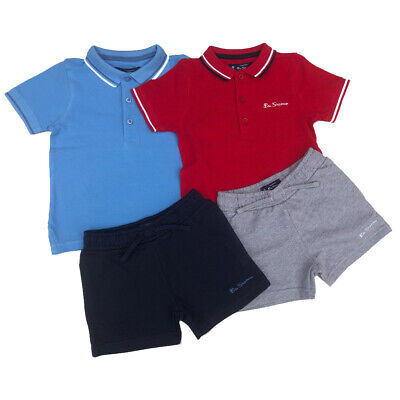 36b8955719f9a Ben Sherman Polo Garçon Ensemble T-Shirt et Short Rouge ou Blue12m 18m