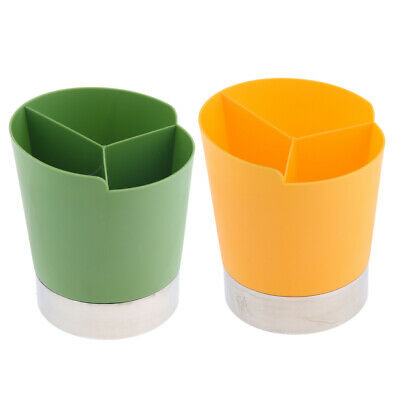 Straw Dispenser Bar Plastic Straw Holder 3Compartment Green+Yellow//2Pack