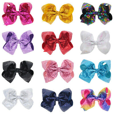 Baby Kids Girl Glitter Sequin Bow-knot Cute Hair Clip Ornaments Hair Accessories