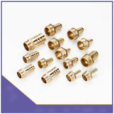 BSP Male Thread x Barb Hose Tail End Connector Brass Pipe Fitting for Air Water