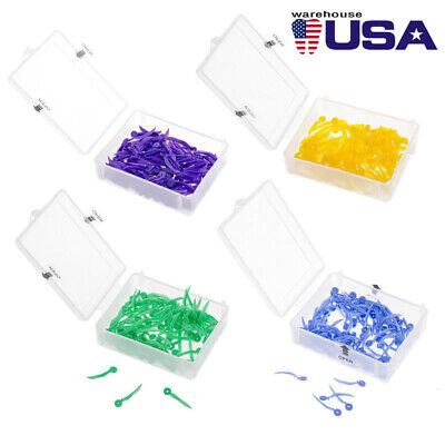 All 4 Sizes 100Pcs Dental Disposable Plastic Wedge With Holes Wave Poly-Wedge US