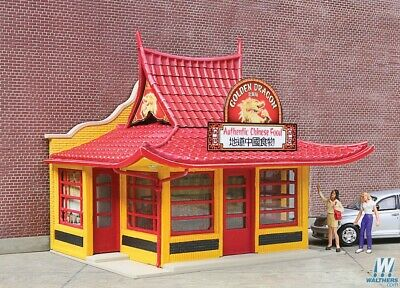 Walthers GOLDEN DRAGON CHINESE TAKE OUT KIT 933-3780 - HO Model Trains