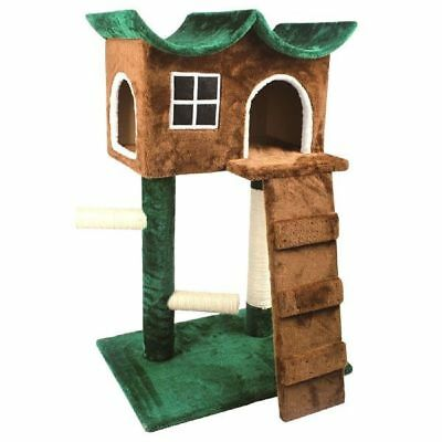 Cat Tree House Condo Tower Activity Sisal Scratch Pole Climb Play Hide Plush