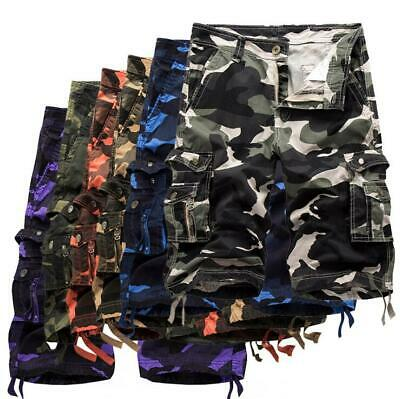 Men's Army Camouflage Shorts Cargo Military Combat Trousers Casual Short Pants