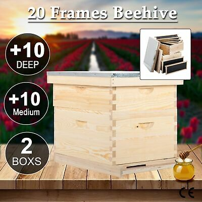 20-Frame Langstroth Beekeeping Kit Bee House Hive Frame/Bee Hive Frame