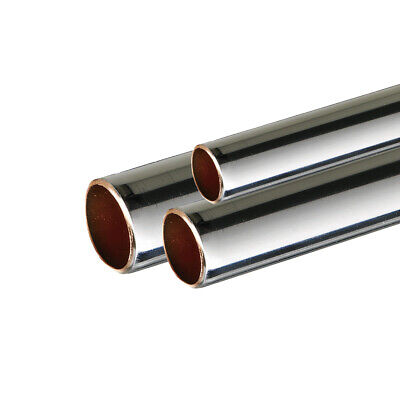 Chrome Plated Copper Pipe Tube 15mm 22mm 35mm 42mm 54mm chrome waste pipe new