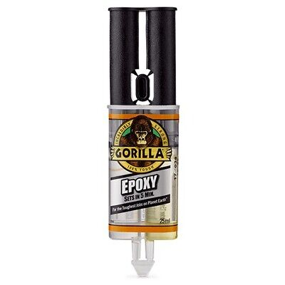 GORILLA EPOXY 25ML | Crystal Clear, Gap Filling, Two-part Adhesive | Strong Bond