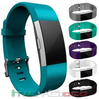 Band Replacement Wrist Strap TPU Silicone for Fitbit Charge 2 Pale Blue Size L