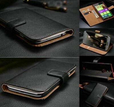 Genuine Real Leather Flip Wallet Card Holder Case Cover for Samsung A7 A8 A50