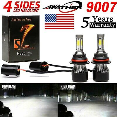 1600W 9007 HB5 LED Headlight for Nissan Frontier Versa Note High Low Beam 6000K