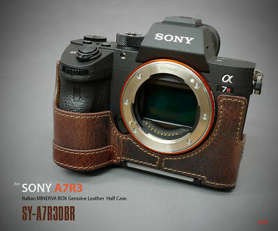 Lim's Design Lims Genuine Italy Leather Half Case for Sony A7RIII Brown