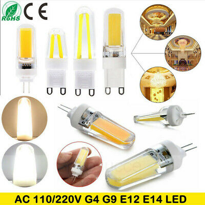 G4 G9 E12 E14 9W Silicone Crystal LED Corn Bulb SpotLight White Lamp AC110V 220V