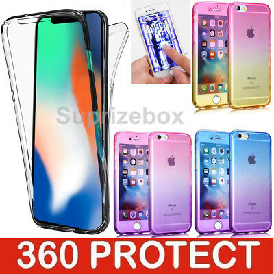 Case For iPhone XS,MAX,8,7,6s,XR Shockproof 360° Silicone FULL BODY Clear Cover